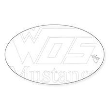 WOS Mustangs White Sticker