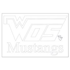 WOS Mustangs White Posters