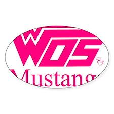 WOS Mustangs Pink Sticker