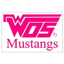 WOS Mustangs Pink Posters