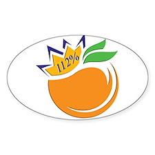Orange logo Sticker
