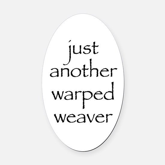 warped.png Oval Car Magnet