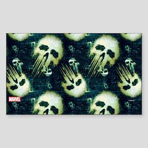 Punisher Skull Pattern Sticker (Rectangle)