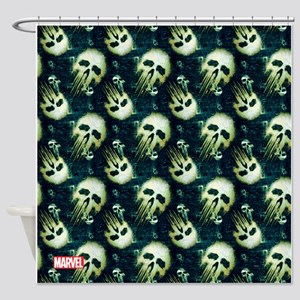 Punisher Skull Pattern Shower Curtain
