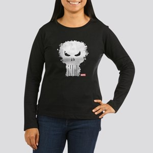 Punisher Skull Women's Long Sleeve Dark T-Shirt