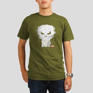Punisher Skull Organic Men's T-Shirt (dark)