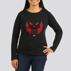 Punisher Icon Women's Long Sleeve Dark T-Shirt