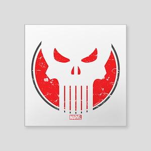 """Punisher Icon Square Sticker 3"""" x 3"""""""