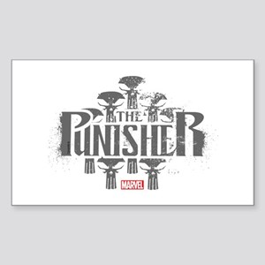 The Punisher Distressed Sticker (Rectangle)
