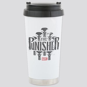 The Punisher Distressed Stainless Steel Travel Mug