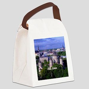 Riga, Latvia cityscape Canvas Lunch Bag