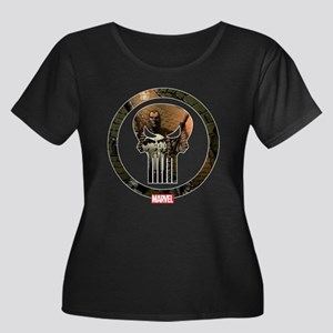 The Puni Women's Plus Size Scoop Neck Dark T-Shirt