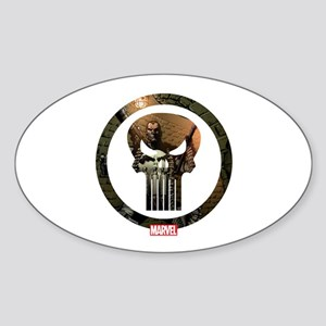 The Punisher Icon Sticker (Oval)
