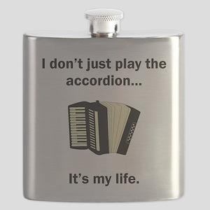 Accordion Its My Life Flask