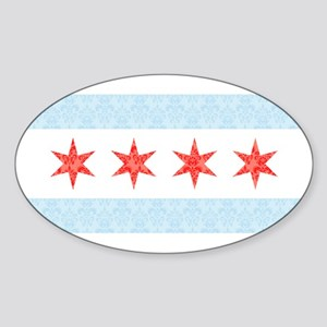 Damask Chicago Flag Sticker
