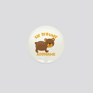 Perssonalized Bear Little Brother Mini Button