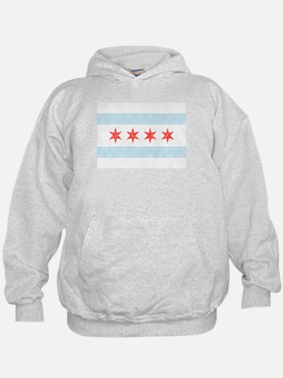 Damask Chicago Flag Hoodie