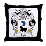 Alos Family Crest Throw Pillow
