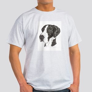 Natural Mantle Great Dane in dots Ash Grey T-Shirt