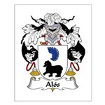 Alos Family Crest Small Poster