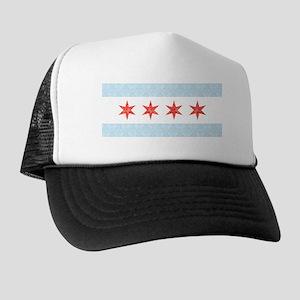 Damask Chicago Flag Trucker Hat