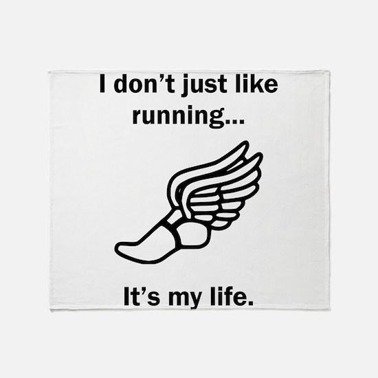 Running Its My Life Throw Blanket