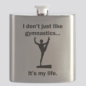 Gymnastics Its My Life Flask