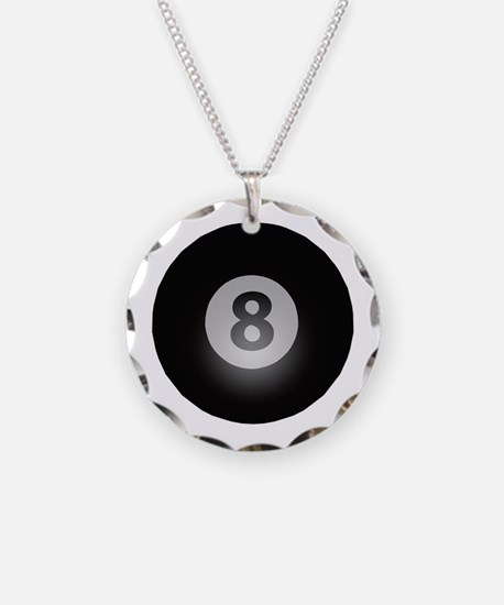 Billiards Eight Ball Necklace