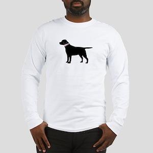 Preppy Black Lab Long Sleeve T-Shirt
