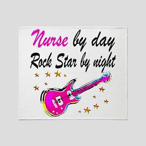 NURSE ROCK STAR Throw Blanket