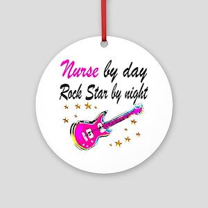 NURSE ROCK STAR Round Ornament