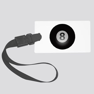 Billiards Eight Ball Large Luggage Tag