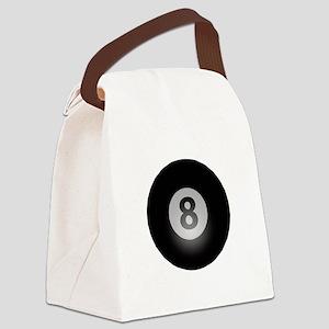 Billiards Eight Ball Canvas Lunch Bag