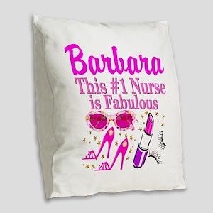 DAZZLING NURSE Burlap Throw Pillow