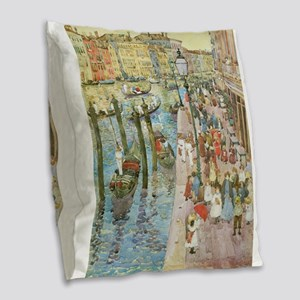 Grand Canal by Prendergast Burlap Throw Pillow