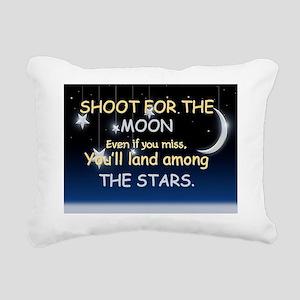 Shoot For The Moon Rectangular Canvas Pillow