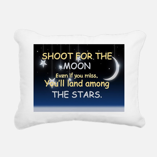 Shoot For The Moon Rectangular Canvas Pillow
