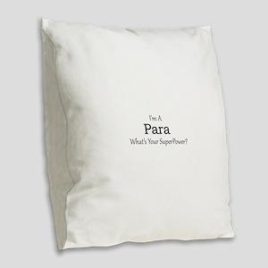 Para Burlap Throw Pillow