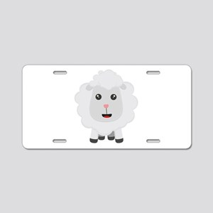Cute little sheep C9ny3 Aluminum License Plate