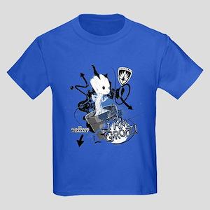 GOTG Baby I am Groot Grunge Kids Dark T-Shirt