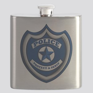 Police Badge Flask