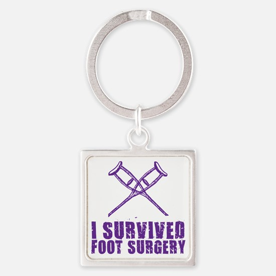 Funny Foot doctor Square Keychain