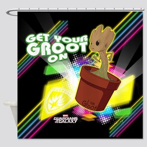 GOTG Get Your Groot On Shower Curtain