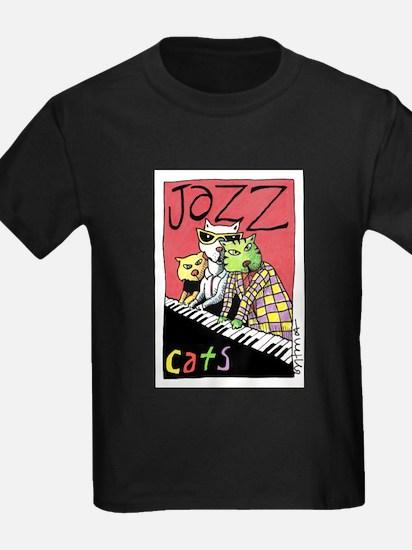 Jazz Cats Ash Grey T-Shirt