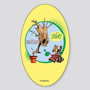 GOTG I am Groot Comic Sticker (Oval)