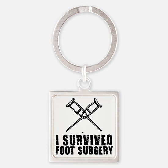 Unique Foot doctor Square Keychain