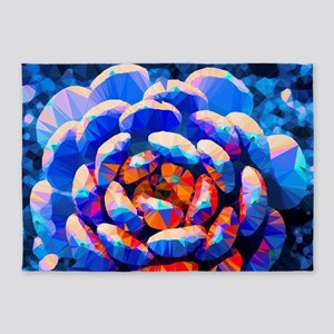 Fleshy Succulent Low Poly 5'x7'Area Rug