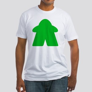 Green Meeple Fitted T-Shirt