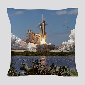 STS-66 Launch Space Shuttle Atlantis Woven Throw P