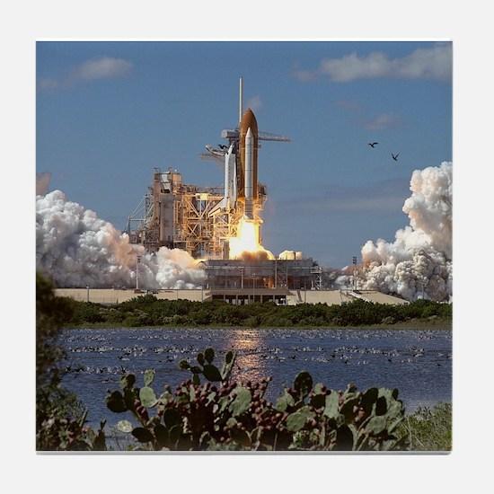 STS-66 Launch Space Shuttle Atlantis Tile Coaster